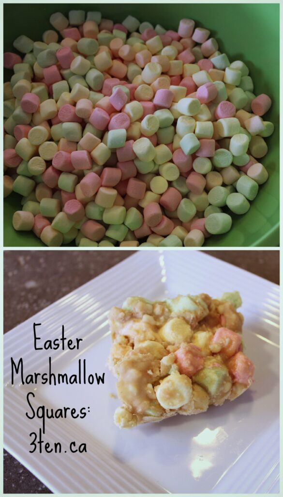 Easter Marshmallow Squares: 3ten.ca