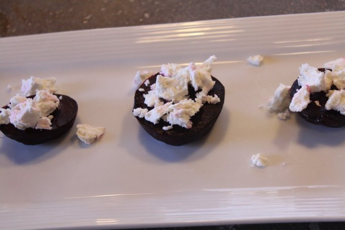 Beet Stacks: 3ten.ca #beets #dinner #goatcheese #thyme