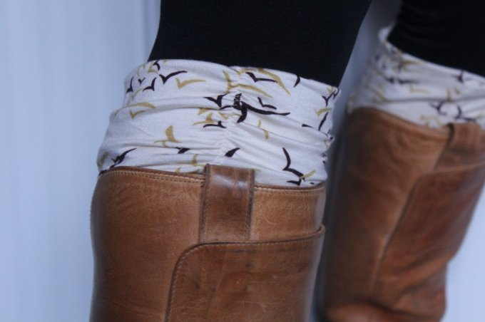Jersey Boot Cuff: 3ten.ca #jersey #sewing #style