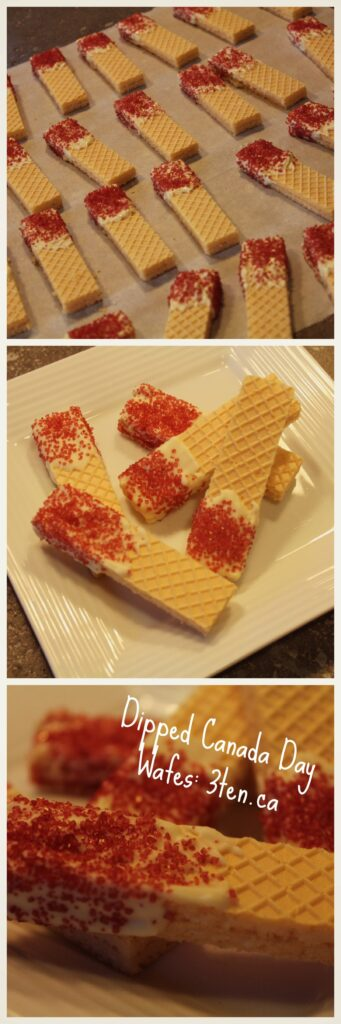 Canada Day Dipped Wafers: 3ten.ca #wafers #treat #canadaday