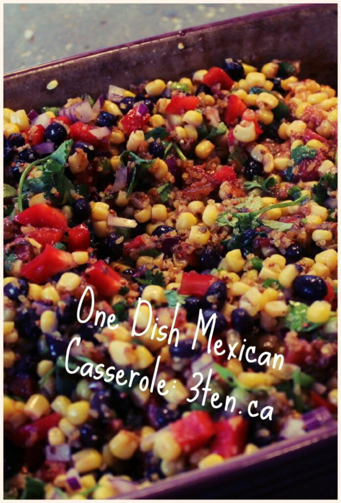 One Dish Mexican Casserole: 3ten.ca #dinner