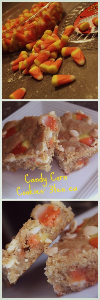 Candy Corn and White Chocolate Chip Cookies: 3ten.ca #halloween