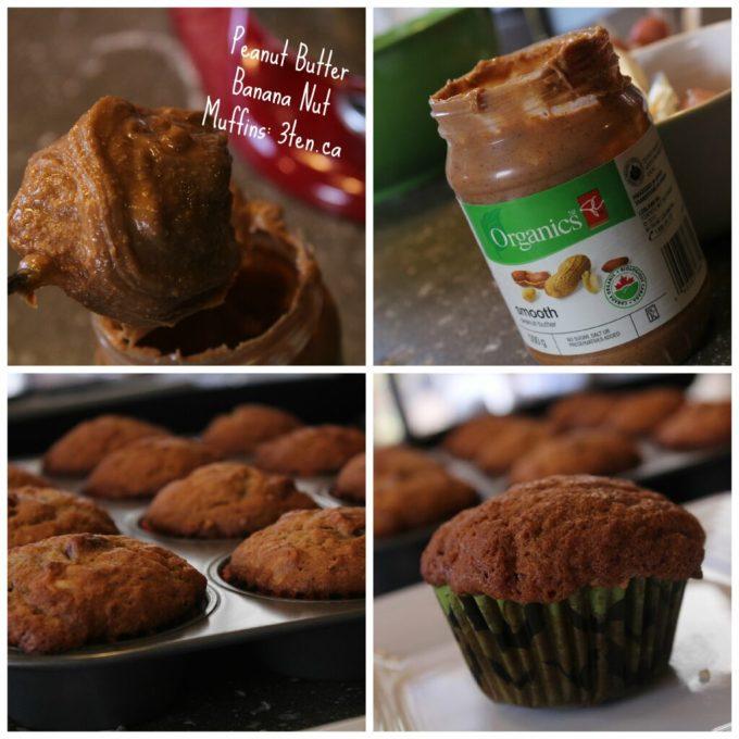 Peanut Butter Banana Nut Muffins: 3ten.ca