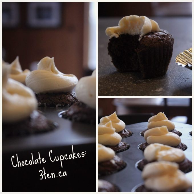 Chocolate Cupcakes with Agave Buttercream: 3ten.ca