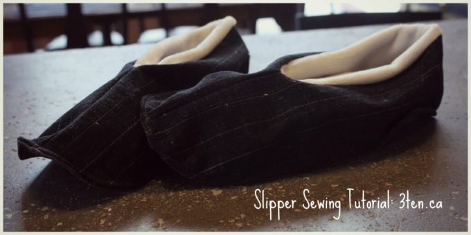 Slipper Sewing Tutorial: 3ten.ca