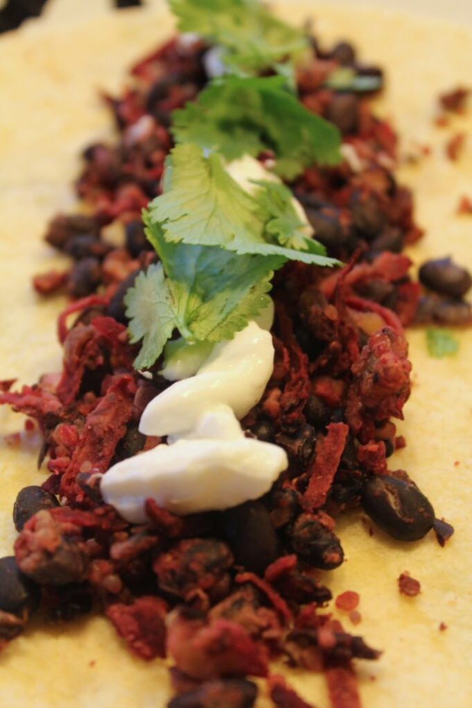 Beet and Bean Wrap: 3ten.ca