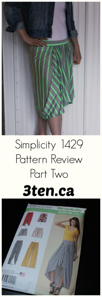 Simplicity 1429 Pattern Review Part Two: 3ten.ca
