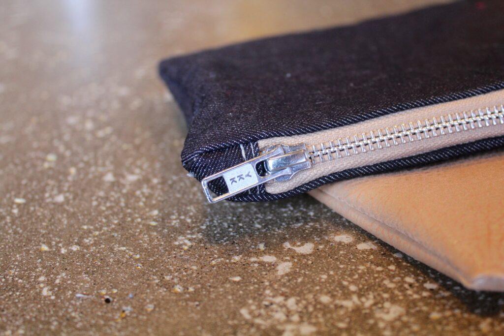 Jean & Leather Clutch: 3ten.ca