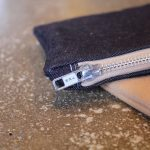 Jean & Leather Clutch