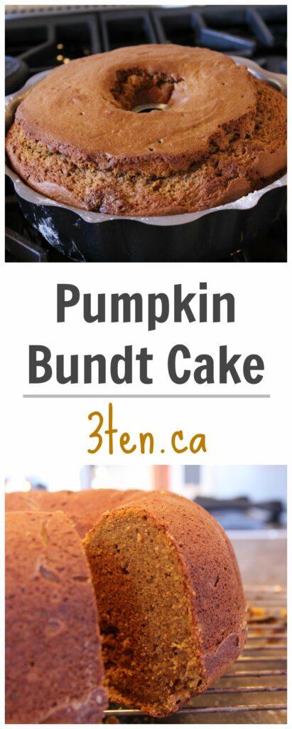 Pumpkin Bundt Cake: 3ten.ca