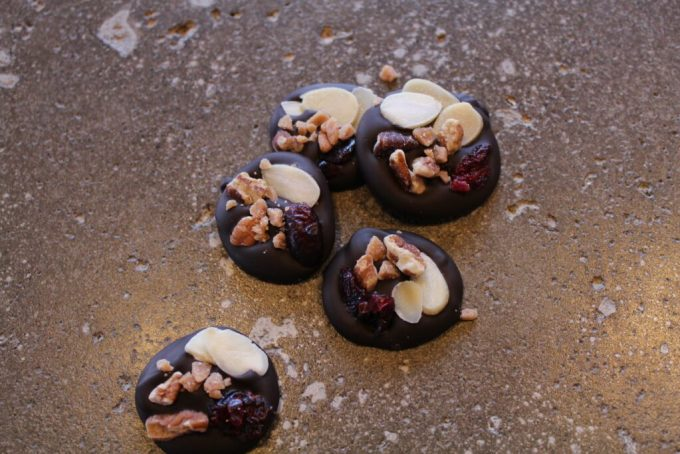 Dark Chocolate Trail Mix Coins: 3ten.ca