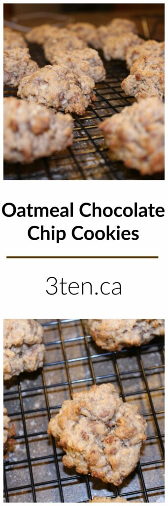 Oatmeal Chocolate Chip Cookies: 3ten.ca