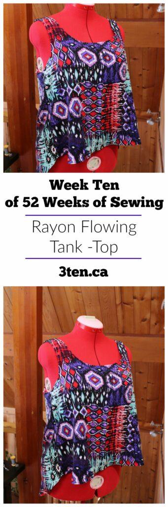 Rayon Flowing Tank Top: 3ten.ca
