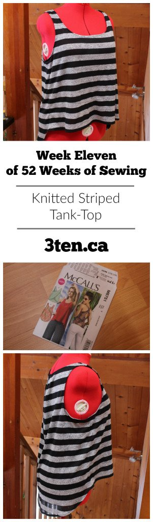 Knitted Striped Tank-Top: 3ten.ca