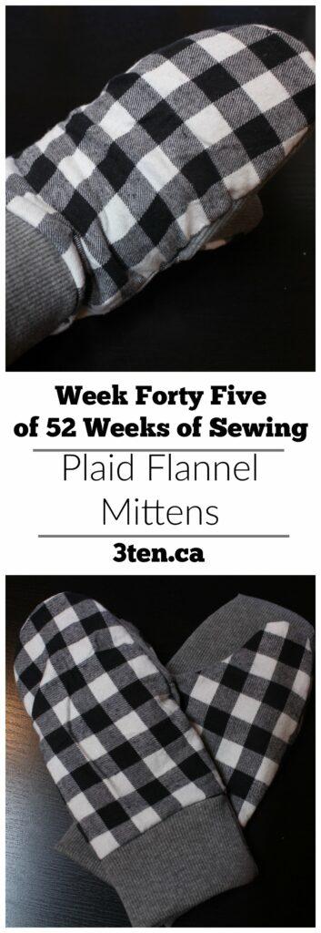Plaid Flannel Mittens: 3ten.ca