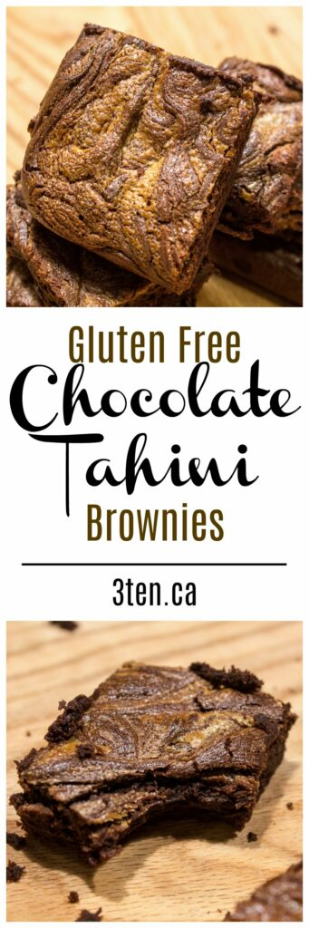 Chocolate Tahini Brownies: 3ten.ca