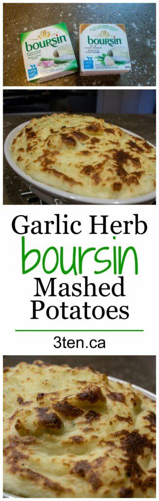 Garlic Herb Boursin Mashed Potatoes: 3ten.ca