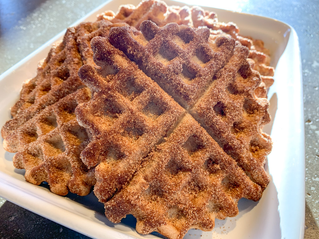 GF Fluffy Churro Waffles: 3ten.ca