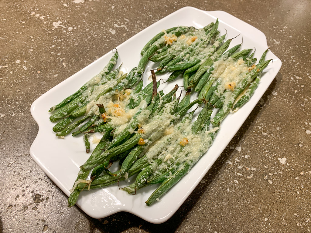 Roasted Cheesy Green Beans: 3ten.ca