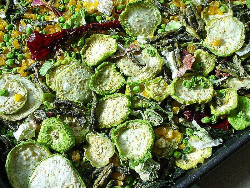 Drying vegetables