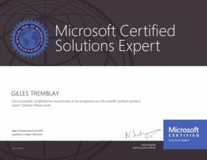 Microsoft Certified Solutions Expert - Desktop Infrastructure