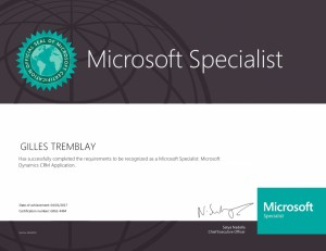 Microsoft Specialist - Microsoft Dynamics CRM  Application