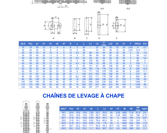page114 catalogue 3transmissions chaine transmission levage