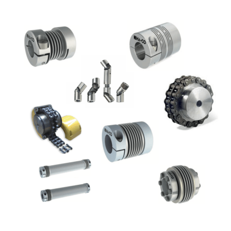 accouplements mécaniques, accouplement à soufflet métallique, accouplement à chaine, accouplement à lamelle