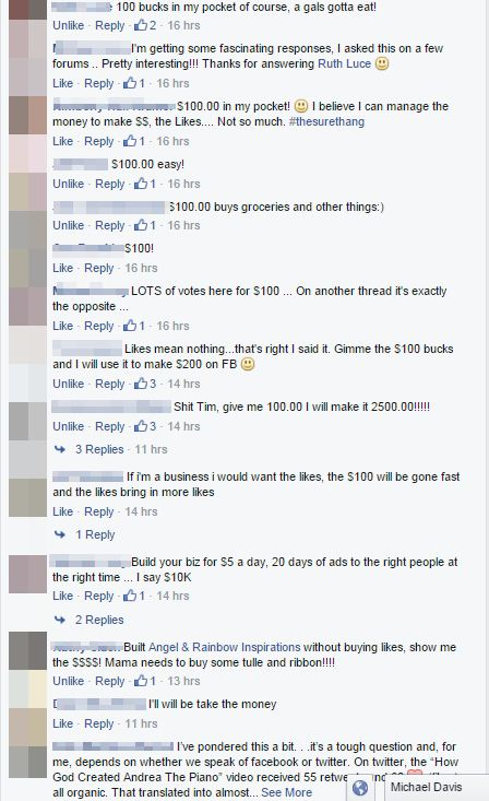 The value of a Facebook Like, social proof it still works!