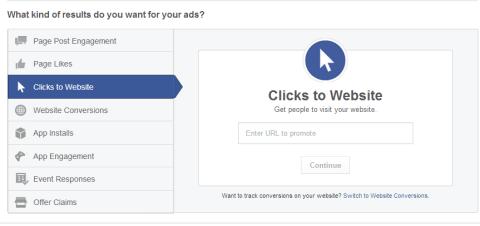 Facebook Website Click Ads
