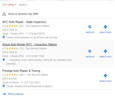 top three auto repair centers