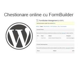 Chestionar online pe WordPress folosind FormBuilder