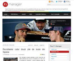 Site pentru fanii Formulei 1 pe WordPress