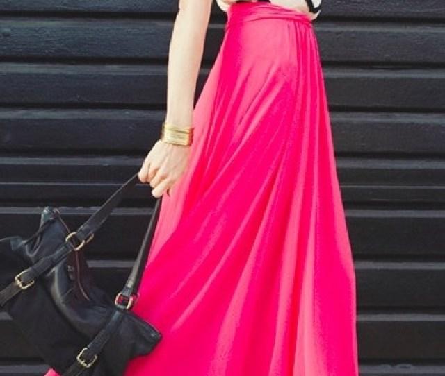 How To Wear A Chiffon Maxi Skirt