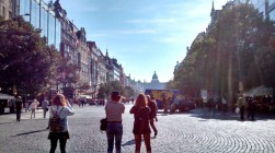 Tourists at the St. Wenceslas Square