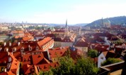 Prague has its share of orange roofs and spires