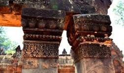 Carved pillar heads