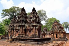 The Sanctuary Towers of Banteay Srei