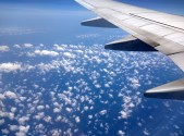 Like tufts of cotton, suspended in the air - on the way from KL to Siem Reap