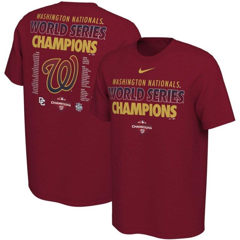 Washington Nationals World Series Champions Tee Shirt - Maroon