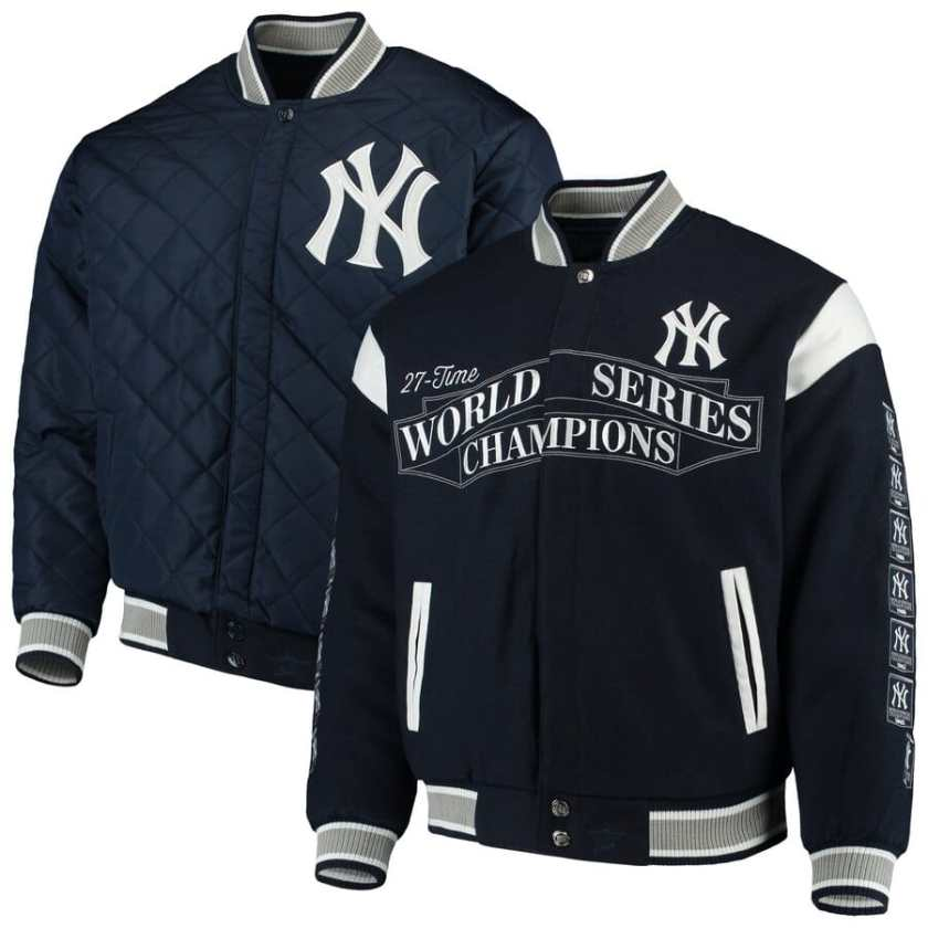 NY Yankees World Series Jacket - Reversible by JH Design