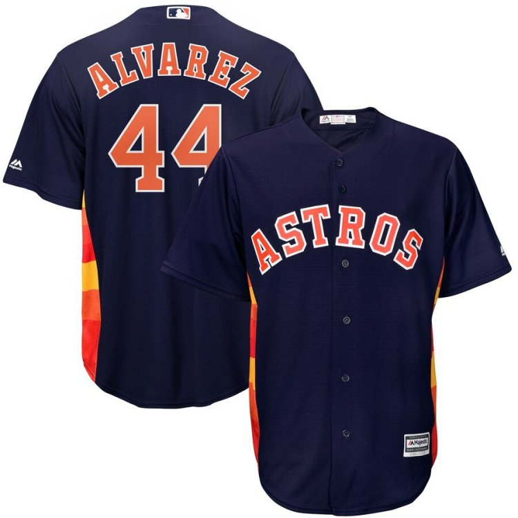 yordan alvarez jersey in blue and orange by Majestic
