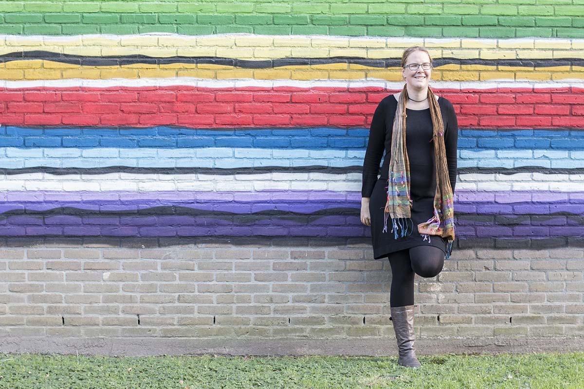 week 01, Jenny Smit, zelfportret, kleurrijk