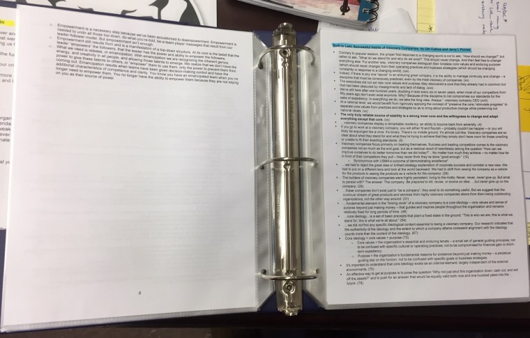 Reflection Binder_2_3x5 Leadership