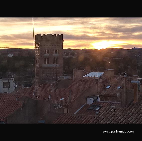atardecer en Teruel