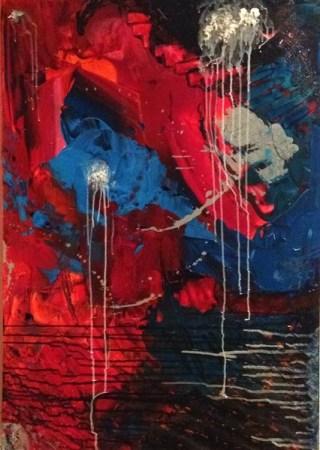rot Abstrakt Arcryl auf Leinwand