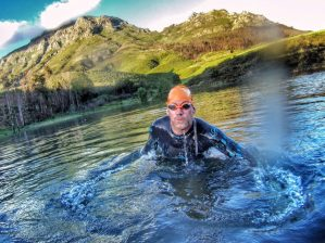 Open water swimming Stellenbosch training