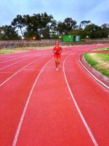 Triathlon training camp Stellenbosch track