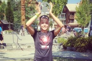 Brenna Coupland smashing her first Ironman at Ironman Canada