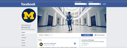 university of michigan facebook cover
